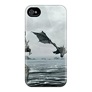Fashionable Style Case Cover Skin For Iphone 4/4s- Skyrim