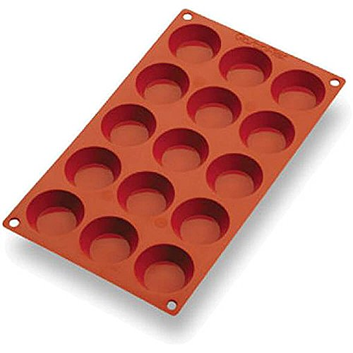 Matfer Bourgeat Silicone Gastroflex Mini Tart Pan, Sheet Of 15 257925