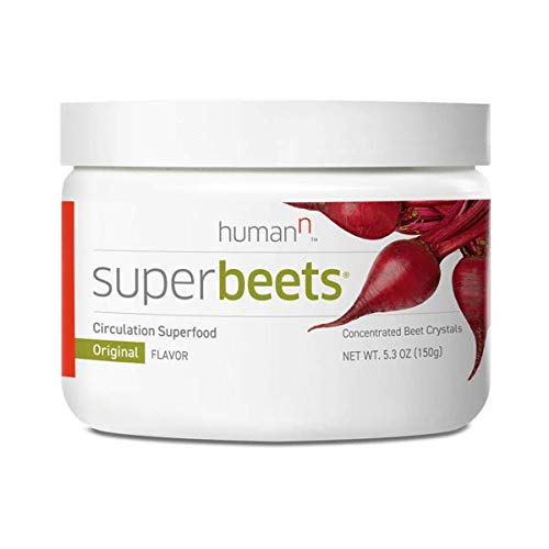 - HumanN SuperBeets Circulation Superfood Concentrated Beet Powder Nitric Oxide Boosting Supplement (Original Apple Flavor, 5.3-Ounce)
