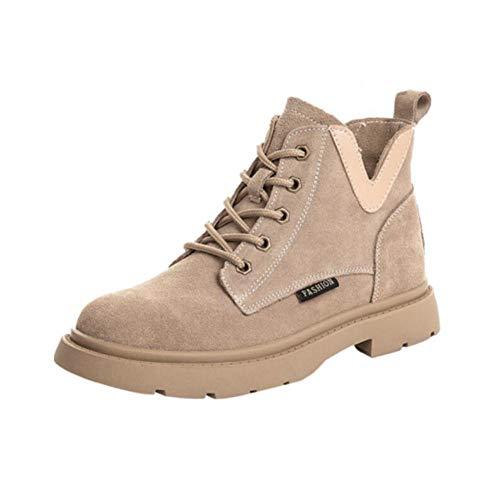 británicos Martin Botines EU36 Mate Coreana Sand versión Femeninos de Boots Viento de UK3 CN35 Planos 5 Color Estudiantes Salvajes FH los Size XAxwA