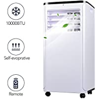 Portable Air Conditioner - Quiet Cold Air Conditioner w/ Remote Control, 10000BTU Portable AC Unit, versatile design & Multipurpose, Class A Energy Saving Air Conditioner Portable, 1 Year Warranty
