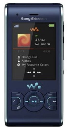 Sony Ericsson W595a Walkman Unlocked Phone with 3.2 MP Camera, Media Player, and M2 Memory Slot--U.S. Version with Warranty (Active Blue)