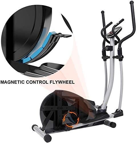 SNODE Magnetic Elliptical Trainer Exercise Machine Heavy Duty Cross Crank Driven