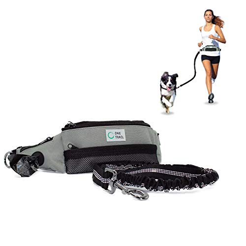 """One Trail Hands Free Dog Leash (Grey) 