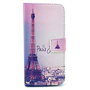 QJM The Charming Paris And Eiffel Tower Pattern PU Leather Full Body Case for iPhone 6 Plus