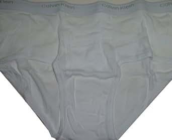 Calvin Klein Men's Brief Underwear, Size 34, White, (Pack of 3)(#22)