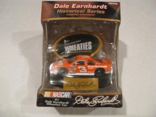 Dale Earnhardt Christmas Ornament - Dale Earnhardt Sr #3 Special Paint Scheme Wheaties Collectable Christmas Holiday Hanging Car Ornament 1/64 Scale Trevco Brand
