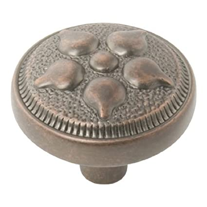 Hickory Hardware Cabinet Hardware P3024 DAC Hickory Hardware Belwith Keeler  Spanish Gothic Knob Dark Antique Copper Dark Antique Copper     Amazon.com