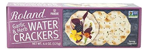 Roland Water Crackers Garlic Herbs