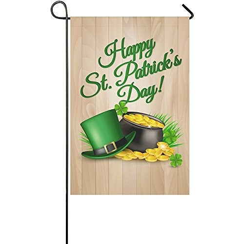 Starclevel Wood with Happy St. Patrick's Day Double Sided Po