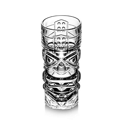 Martini/Cocktail Glasses Cups, Thicken Grimace Hawaiian Tiki Cocktail Glass Totem Juice Drink Cup (Size : ()