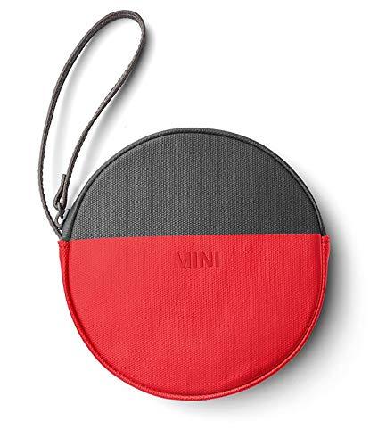 Mini Original Round Colour Block Pouch Tasche grau/Coral / rot Kollektion 2018/2020 BMW