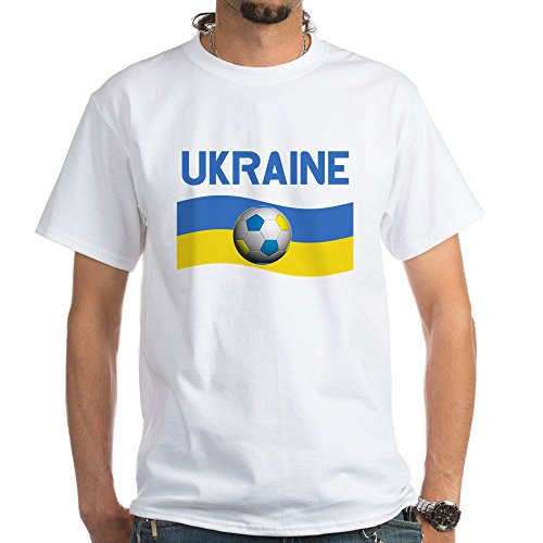 CafePress Team Ukraine World Cup White T-Shirt - 100% Cotton T-Shirt, White