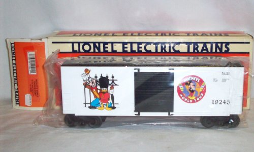 Lionel 6-19245 Mickey's World Tour Hi Cube Boxcar 1993 Disney O gauge -