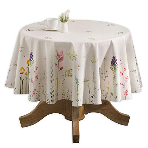 Maison d' Hermine Botanical Fresh 100% Cotton Tablecloth 63 Inch Round ()