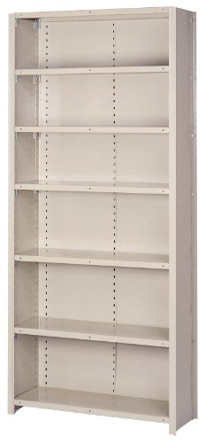 Lyon DD8090S 8000 Series Closed Shelving Starter with 7 Traditional Shelves, 36