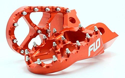 Flo Motorsports Orange KTM Foot Pegs for 50-525 SX/SXF FPEG-795ORG by Flo Motorsports