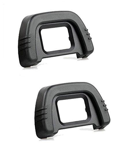 Shenligod [2 Pack] DK-21 Viewfinder Eyepiece Eyecup Eye Cup Rubbe For Nikon D7000 D600 D610 D90 D200 D80 D70s D70 D50 D40 Digital SLR - Viewfinder Eyepiece