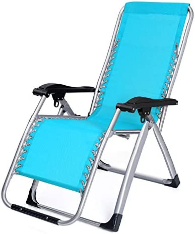 Stafeny Yuzhifei reclining chair nap folding chair office lunch chair back chair outdoor leisure home beach chair lunch chair Blue