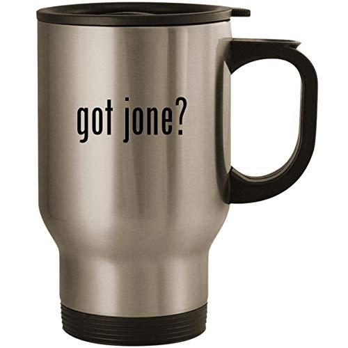 (got jone? - Stainless Steel 14oz Road Ready Travel Mug, Silver)