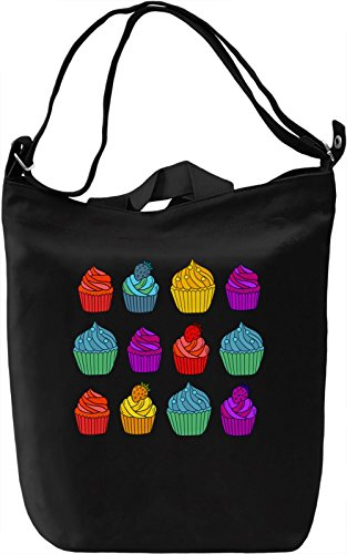 Colourful Cupcakes Borsa Giornaliera Canvas Canvas Day Bag| 100% Premium Cotton Canvas| DTG Printing|