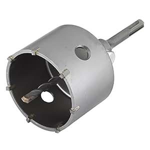Wolfcraft 5481000 - Sierra de corona de sondeo con adaptador vástago SDS-plus, resistente a golpes y choques durante el taladrado Ø 83 mm