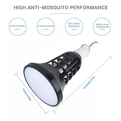 AUKUK 2018 Upgraded Bug Zapper Lantern - 2 IN 1 Mosquito Killer Lamp & Night LED Light - USB and Solar Charging - Lightweight,No noiseand Portable for Indoor&Outdoor, Home&Camping by AUKUK (Image #1)