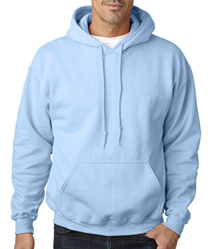 Gildan Adult Heavy Blend� Hooded Sweatshirt (Light Blue) (Large) ()