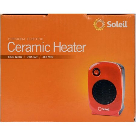 Soleil Personal Electric Ceramic Heater, 250 Watt MH-01 (Red) by Unknown (Image #2)