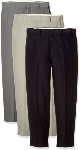 【3色セット】 裾上げ済アジャスター付すっきりスラックス3本組 439800 メンズ