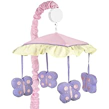 Sweet JoJo Designs Pink and Purple Butterfly Musical Mobile