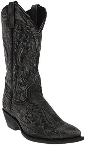 Laredo Men's Garrett Sanded Black Boot (Garrett Stage 2)