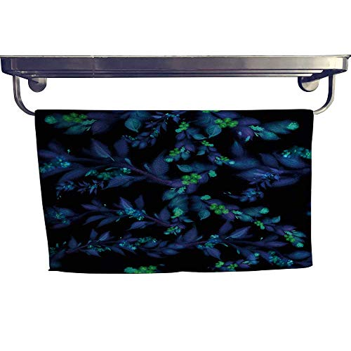 Beach Towel, backgroun e Leaves Flowers Paint Wallpaper use Printe ,Luxury Towels Highly Absorbent Extra Soft W 27.5