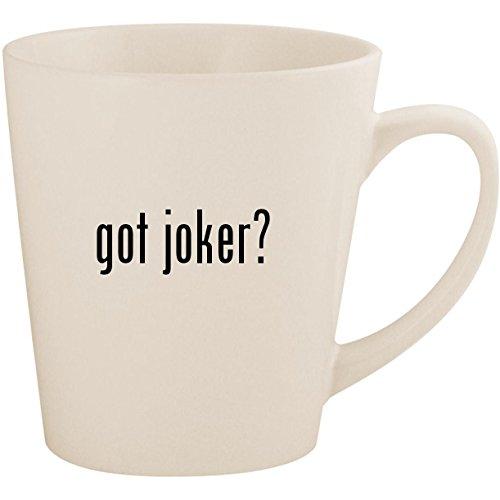 got joker? - White 12oz Ceramic Latte Mug -