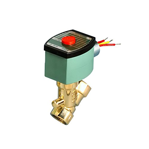 ASCO 8210G015-120/60,110/50 Brass Body Pilot Operated General Service Solenoid Valve, 1/2