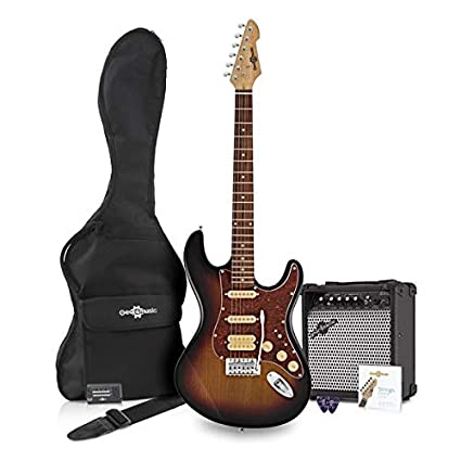 LA II Electric Guitar HSS + Amplificador Sunburst