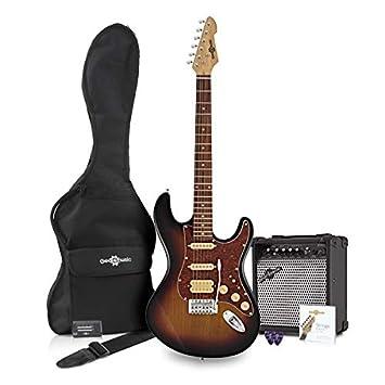 Paquete de Guitarra Eléctrica LA II HSS + Amplificador Sunburst: Amazon.es: Instrumentos musicales