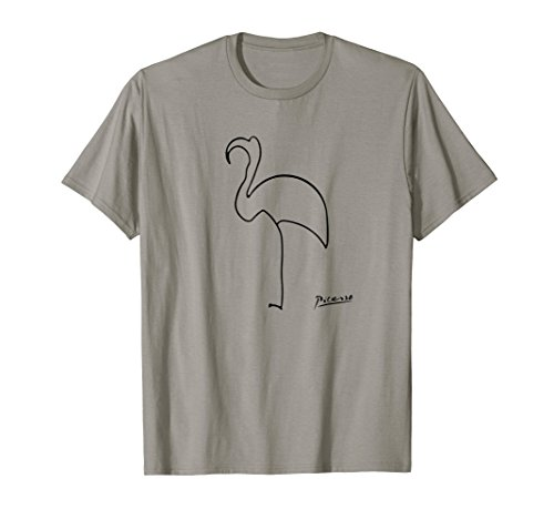 Lithograph Art Rare (Pablo Picasso The Flamingo T Shirt, Artwork Reproduction)
