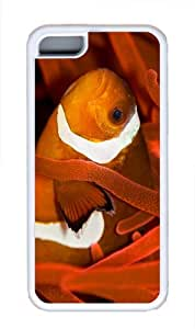 case fashion cover clownfish TPU White Case for iphone 5C