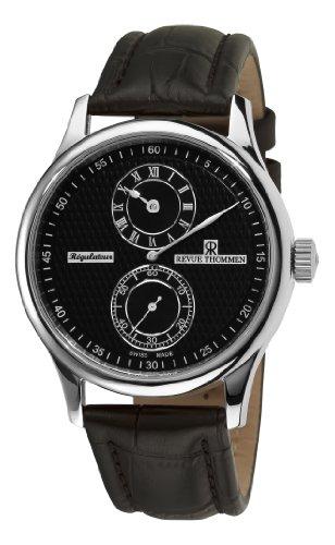 Revue Thommen Men's 16065-2537 Regulator Analog Display Swiss Automatic Black Watch