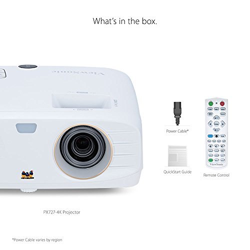 ViewSonic PX727-4K 4K Projector Ultra HD with HDR Support Wide Color Gamut Rgbrgb Rec 709 and Dual HDMI for Home Theater