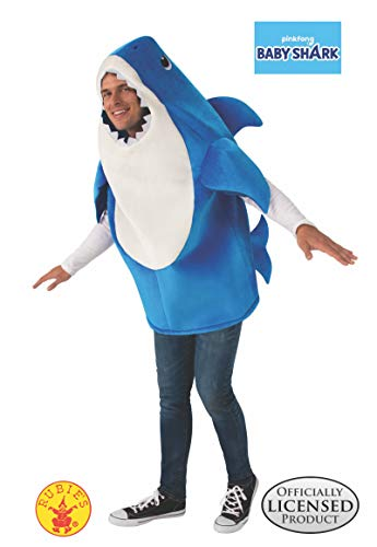 Family Halloween Costumes With A Baby (Rubie's Adult Daddy Shark Costume with Sound Chip,)