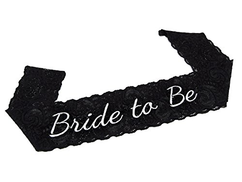 Bachelorette Bride to Be Party Sash - Lace - Great for Bachelorette Parties and Bridal Showers - Outrageous Sunglasses