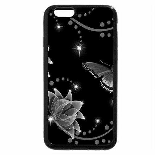 iPhone 6S Plus Case, iPhone 6 Plus Case (Black & White) - Floral Glow
