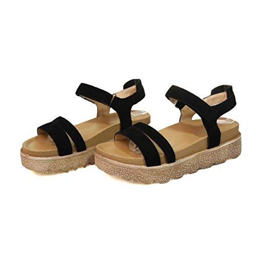 GTVERNH-Freizeit - Schuhe Schuhe Schuhe Mit Dicken Sohlen Muffin Sandalen Sommer Alle Zusammen Studenten Flache Weiche Schwester Rom ed48aa