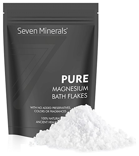 PURE Magnesium Chloride Flakes 3 lb - Absorbs Better than Epsom Salt - All Natural Unscented Foot Soak (15 uses) or Full Body Bath (8 uses) for Stress Relaxation, Muscle Pain, Migraines and more!