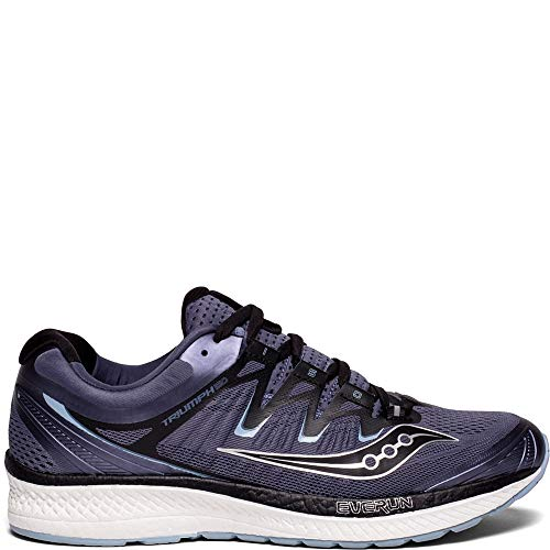 Saucony Men's Triumph ISO 4 Running Shoe, Grey/Black, 11.5 Wide US
