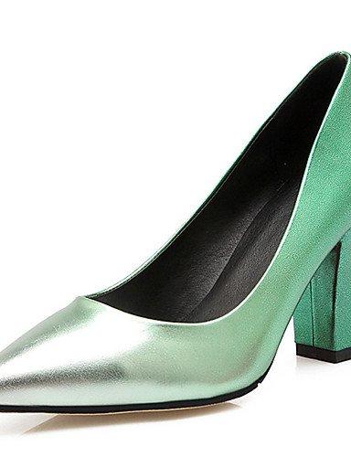 ZQ zapatos de mujer de tac¨®n grueso talones / novedad / talones del dedo del pie en punta de la boda / fiesta&?noche / vestido de azul / , gray-us10.5 / eu42 / uk8.5 / cn43 , gray-us10.5 / eu42 / uk8 blue-us10.5 / eu42 / uk8.5 / cn43