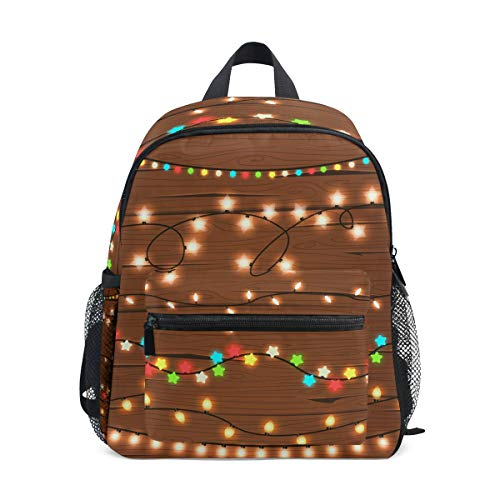 - imobaby Christmas String Lights Unisex Outdoor Daypacks Bags 2th 3th 4th Grade School Backpack for Kids Boys Girls