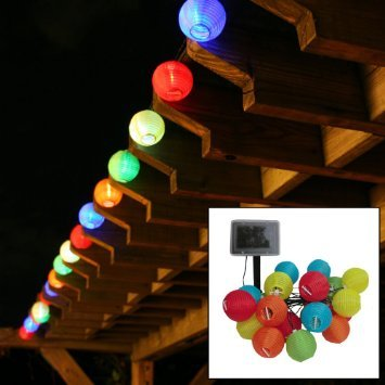 Amazon e joy chinese lantern led solar string lights 10 e joy chinese lantern led solar string lights 10 multi color mozeypictures